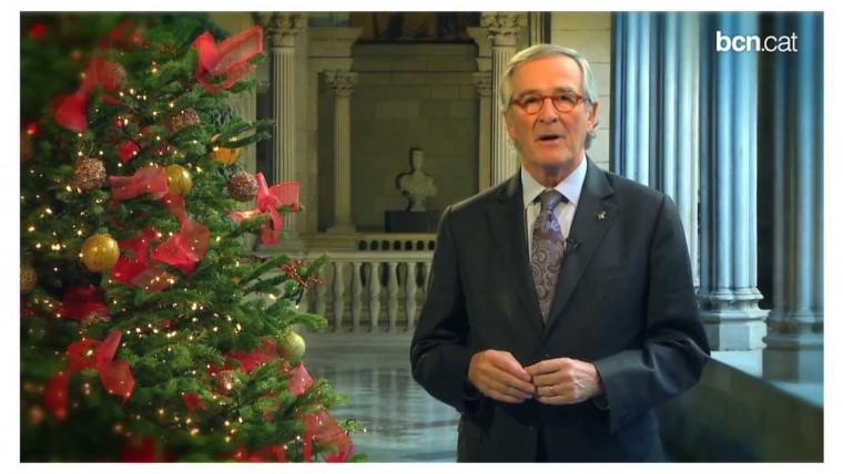 L'alcalde Xavier Trias felicita el Nadal i desitja un bon 2014 als barcelonins