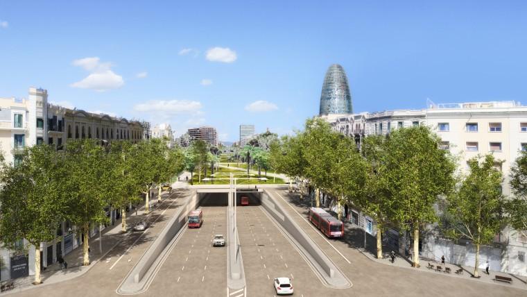 El primer semestre de 2015 començarà la construcció dels túnels soterrats de Les Glòries