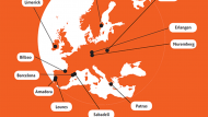 Maspa de les ciutats membres de C4i
