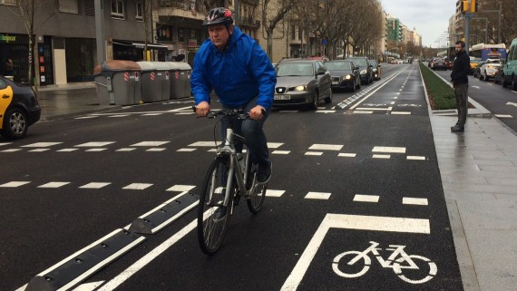 Nou carril bici del Paral·lel