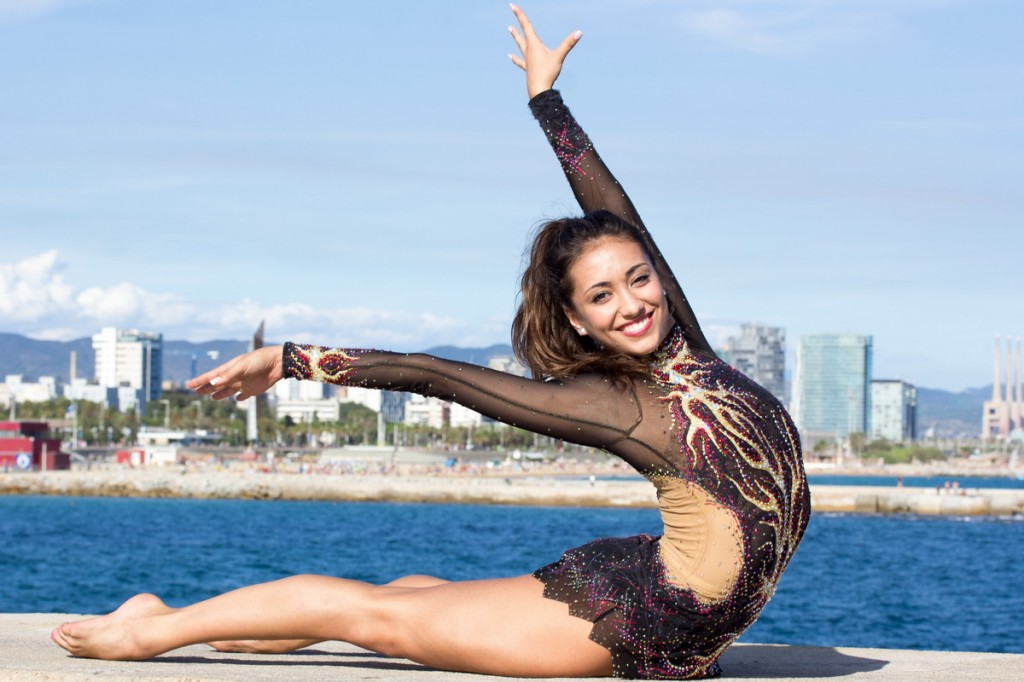 International medalists compete for the barcelona city - Alicia fernandez ...