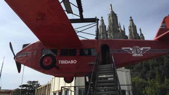 parc d'atraccions, avió, tibidabo, història