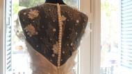 moda nupcial, núvies, costura, vestit, núvia, casament