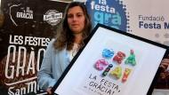 Marta Cos Roig i el seu cartell guanyador