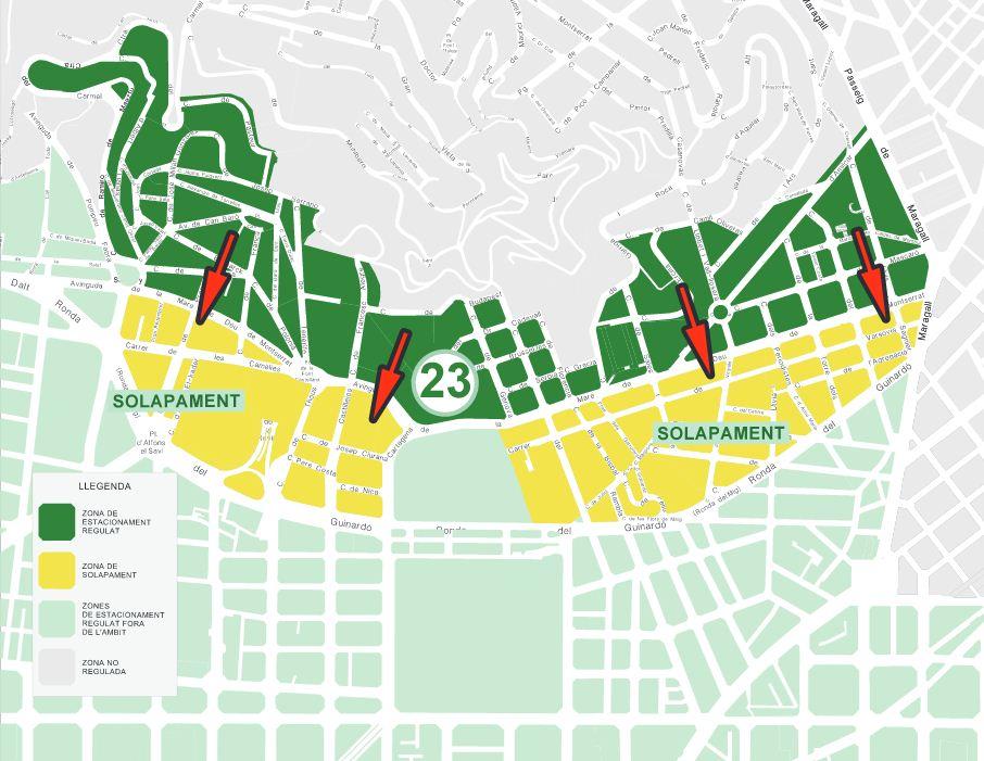 Rea verda a horta guinard amb places preferents for Oficina area verda barcelona