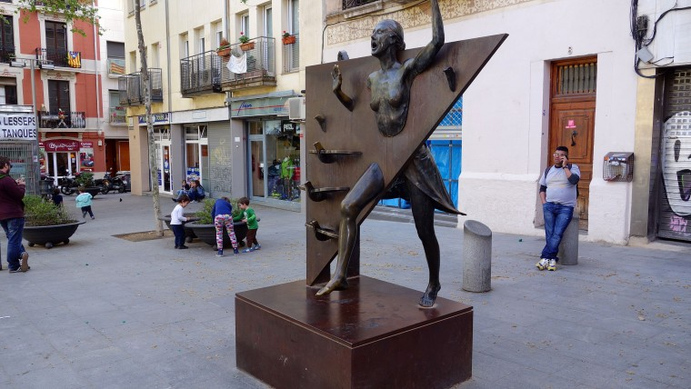 La plaça del Diamant i el refugi antiaeri