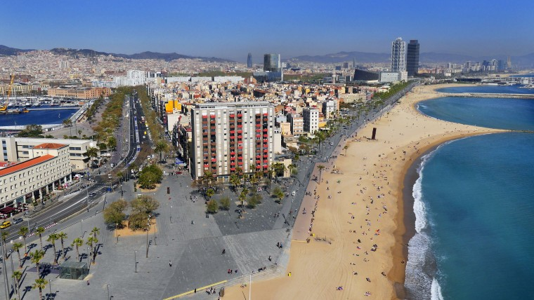 La platja de la Barceloneta