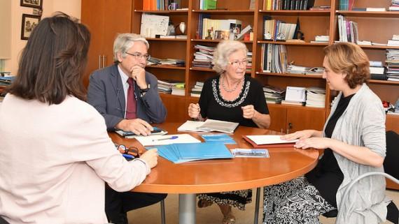 Reunió de Colau amb la Síndica de Barcelona, Maria Assumpció Vilà