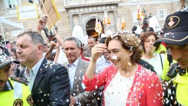 Ada Colau a Plaça Sant Jaume el dia de la investidura