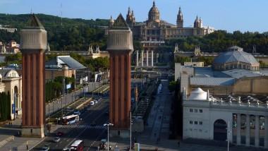 Fira de Barcelona a l'Avinguda de Maria Cristina