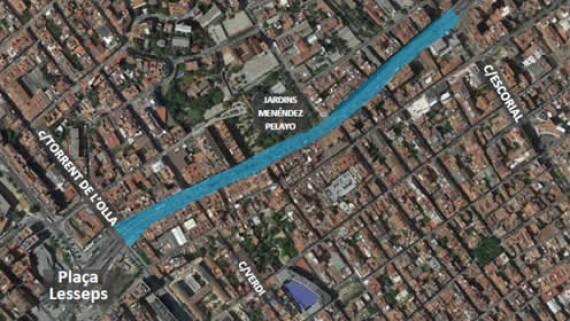 remodelació de la Travessera de Dalt entre la plaça Lesseps i Escorial