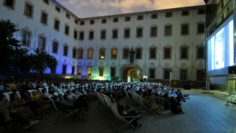 Outdoor Cinema at the Centre de Cultura Contemporània de Barcelona