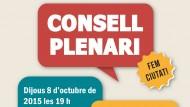 Cartell convocatòria Consell Plenari