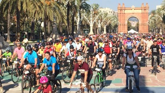 Bicicletada familiar durant la Setmana de la Mobilitat Sostenible