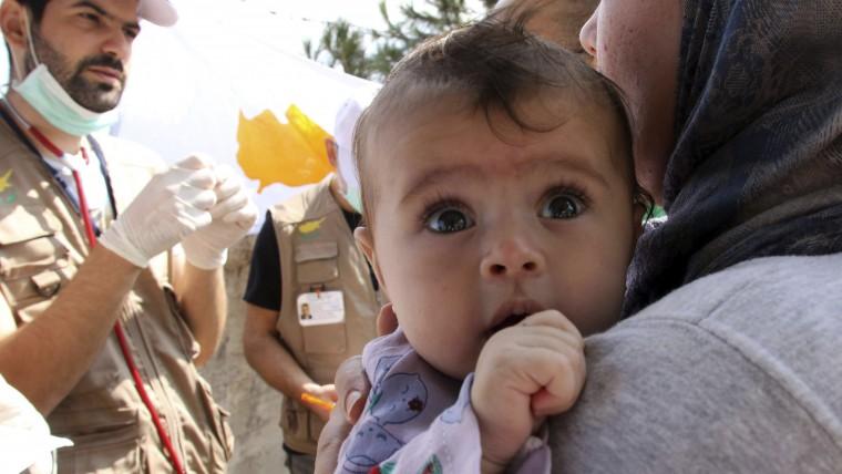 refugiats illa de Chios