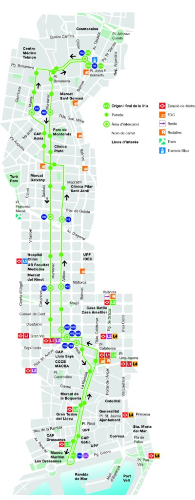 Barcelona now has a total of 16 orthogonalgrid bus lines