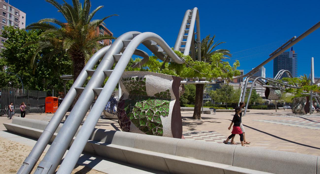 Parque de diagonal mar web de barcelona for Parques de barcelona para ninos