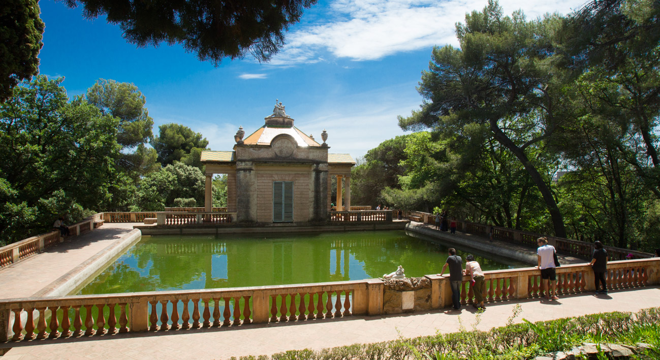 Top 6 Parks in Barcelona - A romantic pond in Parc del Laberint d'Horta