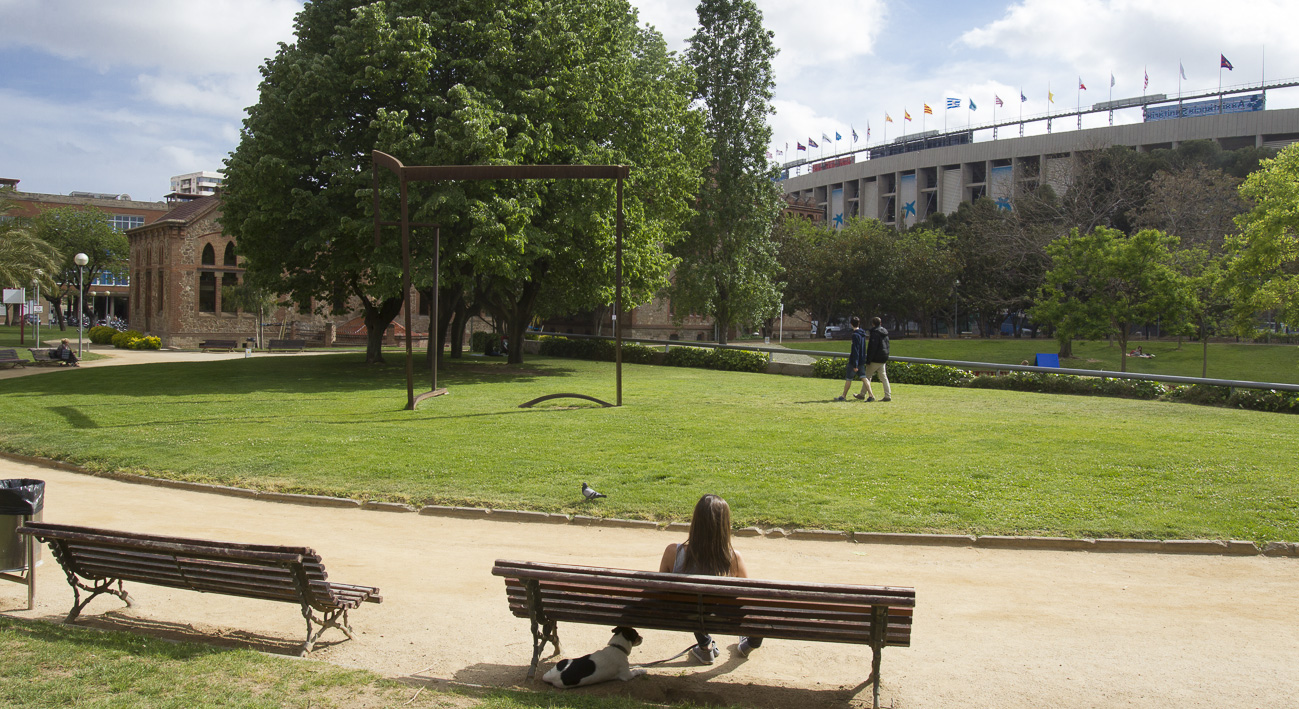 Los jardines de la Maternitat en los aledaños del Camp Nou.