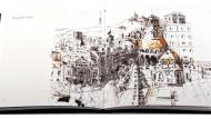 Imatge de les pàgines interiors del llibre 'Pinzellades de Barcelona' de Xavier Julià