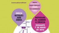 Cartell Botigues al carrer Gràcia 2016