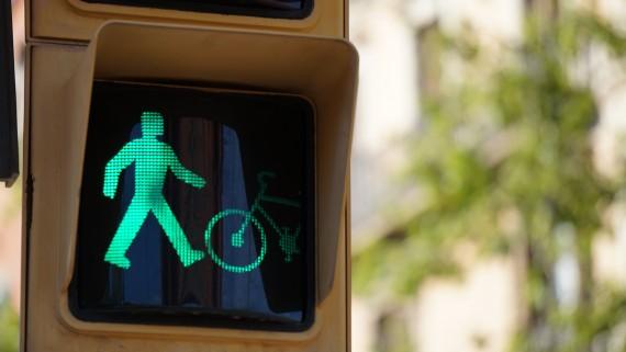 semàfor bicicleta, bici, senyal, verd