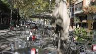 Terrasses a la rambla Fabra i Puig. Sant Andreu.