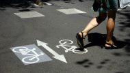 Carril bici al carrer de Girona