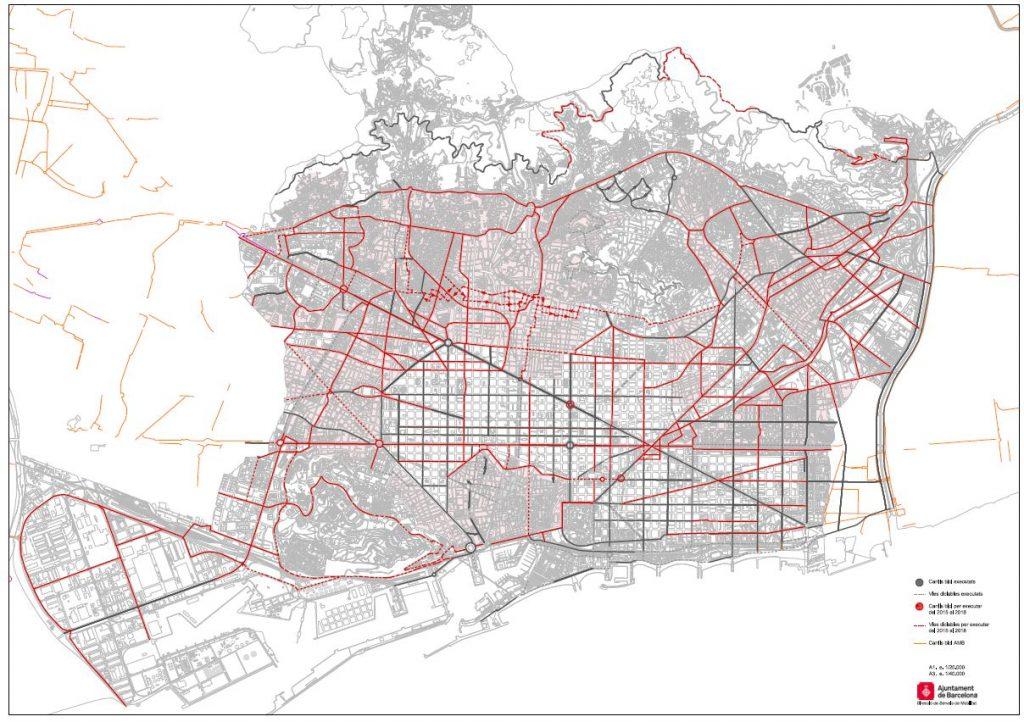 Mapa Carril Bici Barcelona.Asi Crece La Red De Carriles Bici Bicicleta