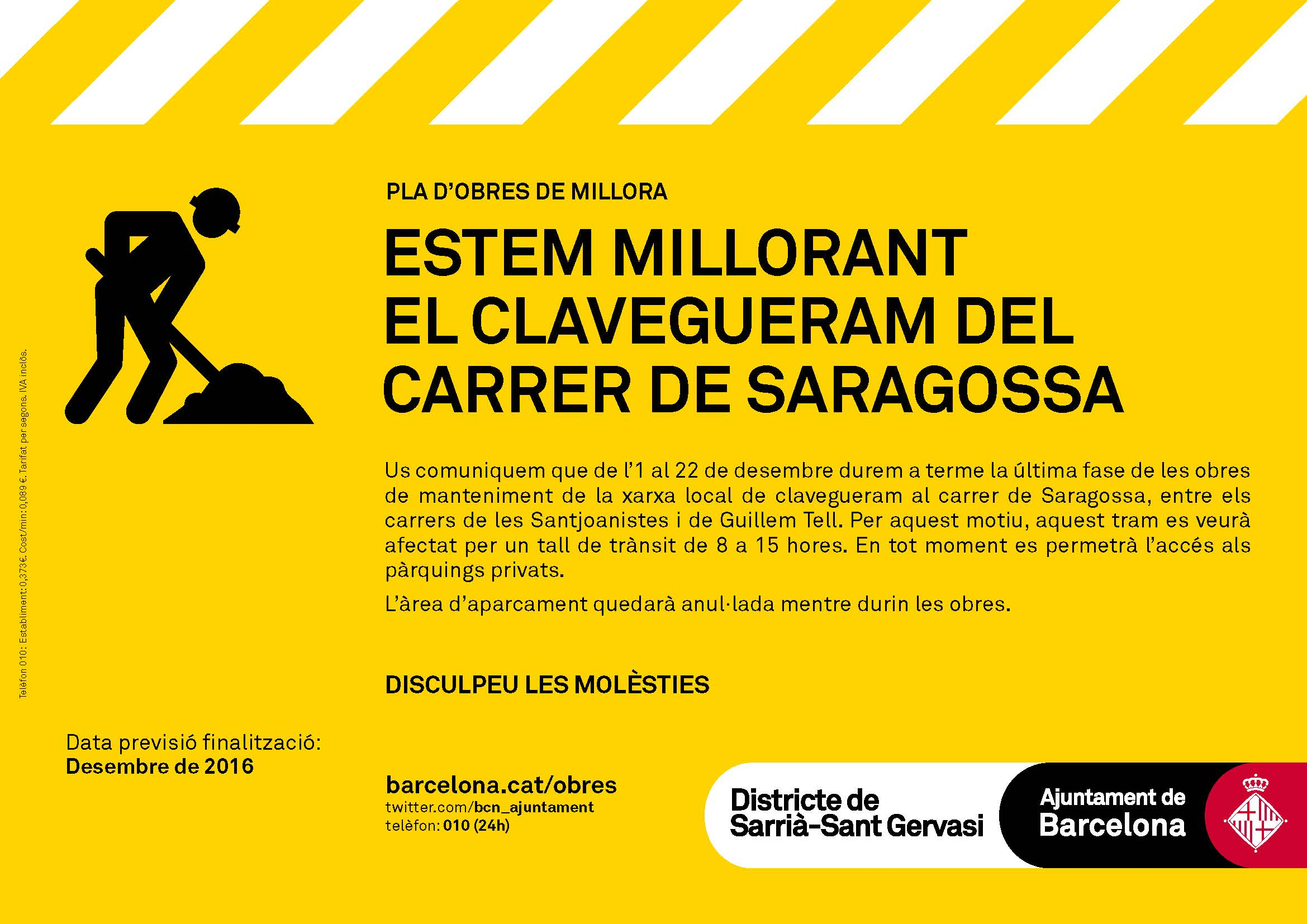 05ac41a9f123 Estem millorant el clavegueram del carrer de Saragossa | Mobilitat i  transports