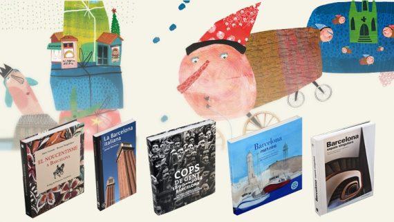 Imatge de les cobertes de llibres de Barcelona per reagalar durant les festes de Nadal i Reis.