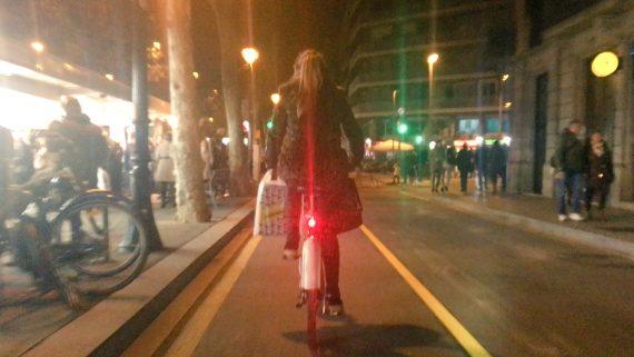 Carril bici provisional Gran Via