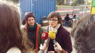 Visita d'obres de millora a l'accés de l'estació de metro Barceloneta de les regidores Gala Pin i Mercedes Vidal