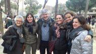 El Regidor del Districte, amb la Roser Capdevila i les seves filles (les tres bessones)