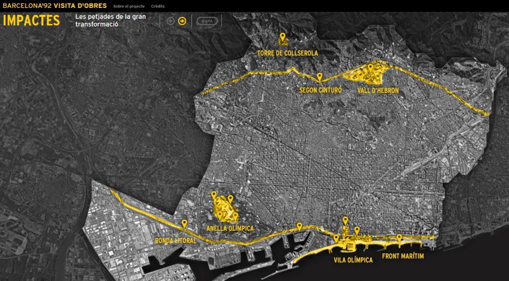 Toda La Transformacion De Barcelona Para Los Juegos En Una Web