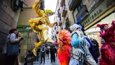 Arribo de la Reina Belluga i els Focs de Carnaval, Carnaval de Barcelona 2016 4.02.2016 Foto PERE VIRGILI