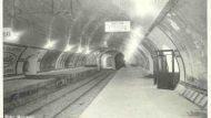 Estació als inicis del Gran Metro (TMB)