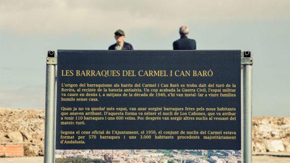 Placa Homenatge Barraques Can Baró i Carmel