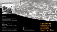 Tríptic de la exposició organitzada per l'Arxiu Municipal del Districte de Sants-Montjuïc