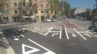 Cruïlla amb el carrer de Consell de Cent