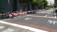 Carril bici Ramon Turró - Zona avançada per bicicletes