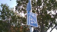 Carril bici Ramon Turró - Senyalització cruïlla amb Bac de Roda