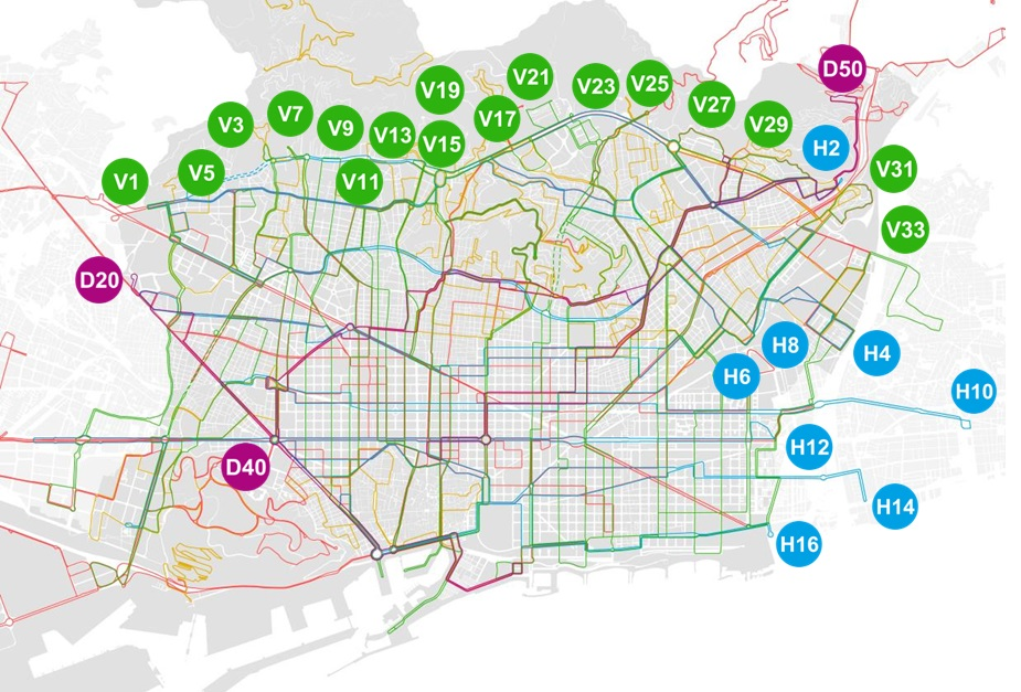 Barcelona\'s new bus network will have 97 services | Ecology, Urban ...