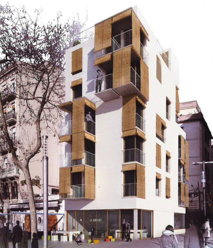 L ajuntament resol el concurs per construir 39 cohabitatge for Oficina habitatge sant marti