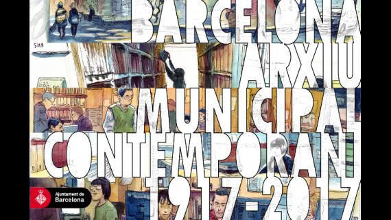 Postal Centenari AMCB. Zoel Forniés