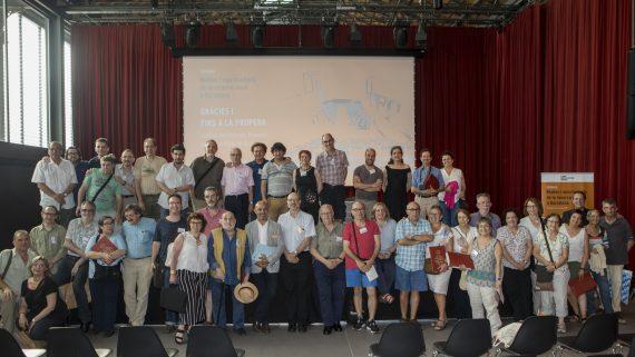 Participants a la Jornada durant el tancament de l'acte