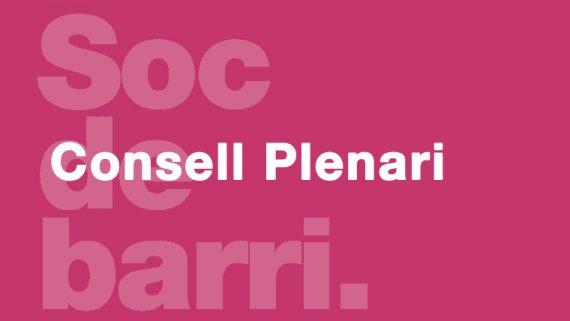 Consell Plenari de Sarrià - Sant Gervasi