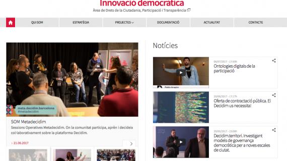 Presentem el nou web d'Innovació Democràtica