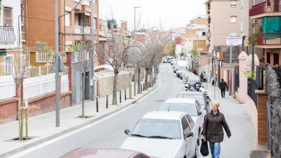 Pla de barris, sant genís dels agudells, teixonera, carrer arenys, espai públic
