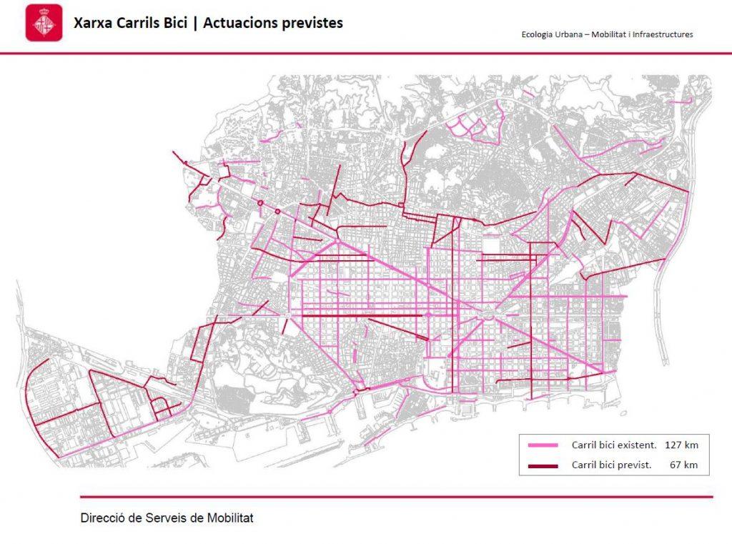 Mapa Carrils Bici Barcelona.Mas Infraestructura Por La Movilidad Sostenible En Sarria
